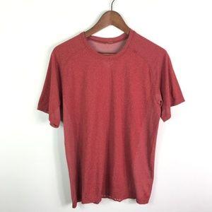 Lululemon Men's Athletic Shirt Red Short Sleeve